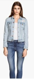 light jean jacket h andm
