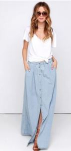 lulu denim maxi