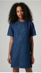 topshop denim shift dress