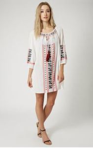 topshop tassel dress