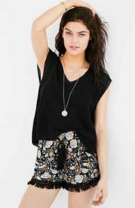 urban printed short