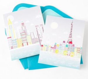 nyc paris notecards