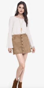 Suede Skirt Express